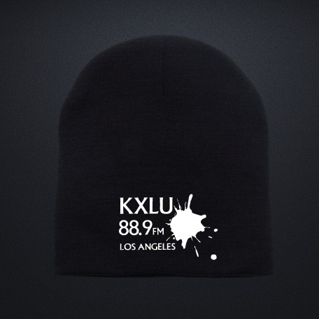 $30 Donation - Knit Beanie with Embroidered KXLU Signature Logo